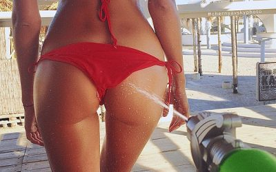 Red Bikini Models Gallery